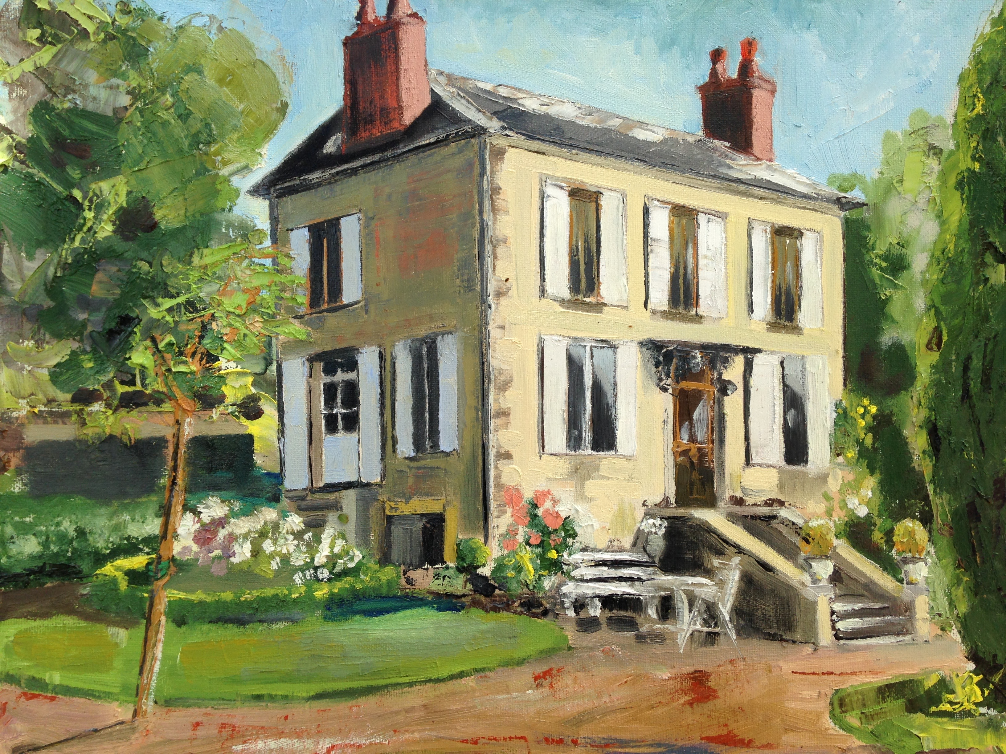 Painting of a house amusing podcast 29 house portrait for Oil paintings for the home