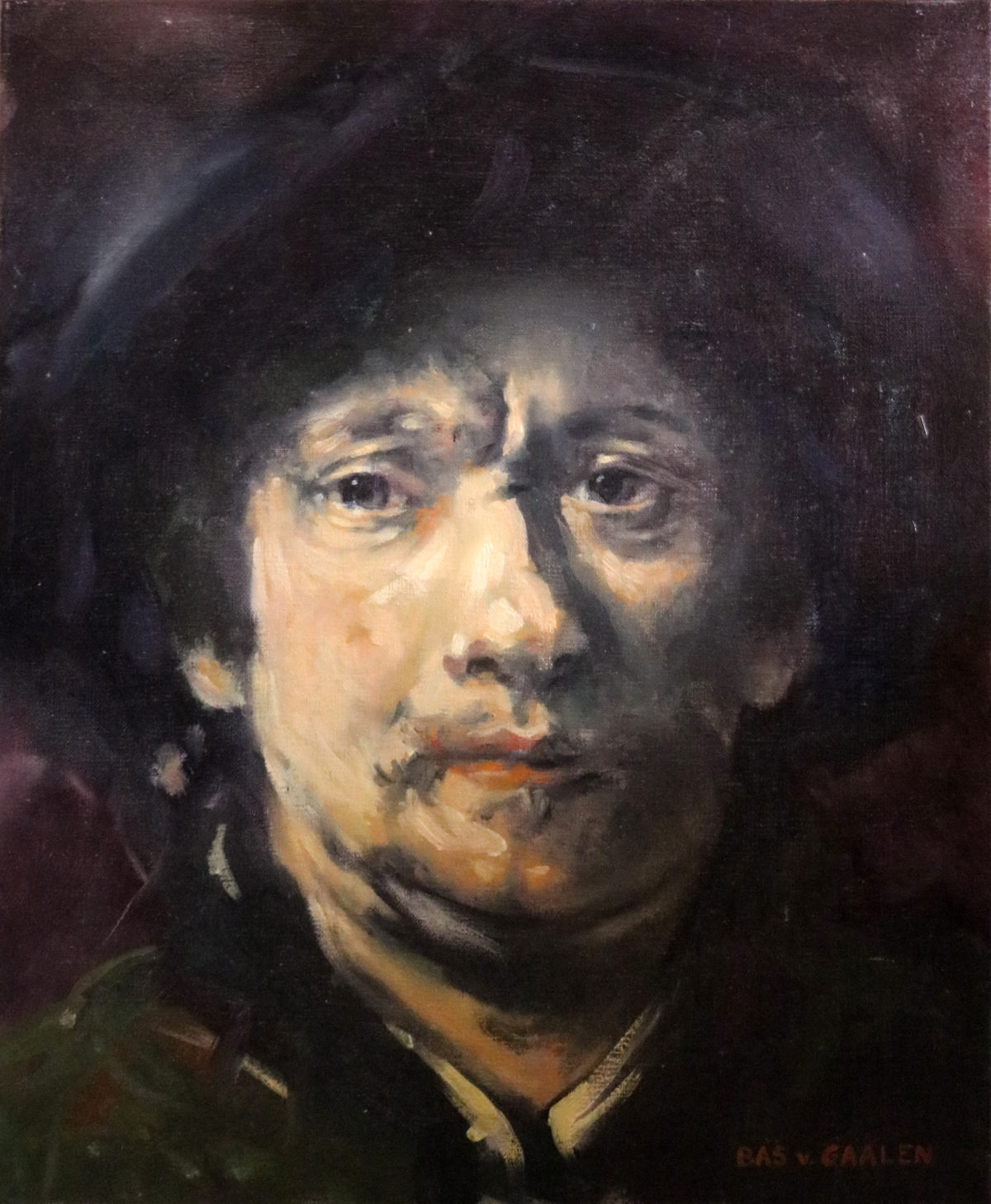 Study of a self portrait of Rembrandt